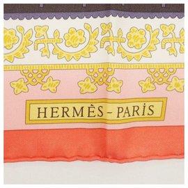 Hermès-Hermès Carre90 Biinj dai repeating pattern Womens scarf pink x purple-Pink,Purple
