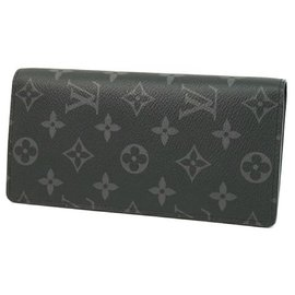 Louis Vuitton-LOUIS VUITTON Folded portofeuilles Brazza Mens long wallet M61697-Other