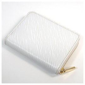 Louis Vuitton-Louis Vuitton love lock Zippy coin purse unisex coin case M63994 blanc-Other