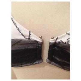 John Galliano-Maillots de bain-Noir,Blanc