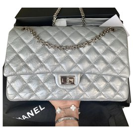 Chanel-Reissue 2.55 Aged calf leather Size 226-Metallic