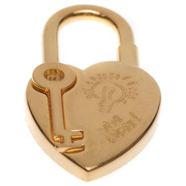 """Hermès-Hermès - Collector / Rare """"Heart"""" padlock in gold-plated metal celebrating """"the year of fantasy 2004""""-Golden"""