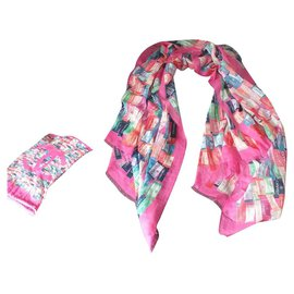 Chanel-Scarves-Pink