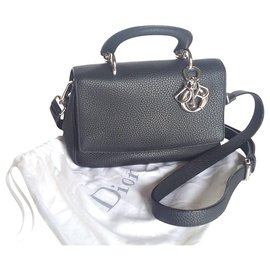 Christian Dior-Be Dior. Hand carried, épaule ou bandoulière.-Black