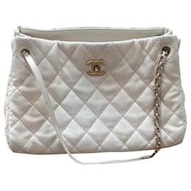 Chanel-Chanel handbag-Cream
