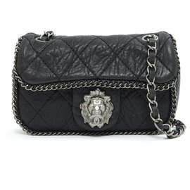 Chanel-HAUTE COUTURE TIMELESS CLASSIC MINI LION-Black,Silvery