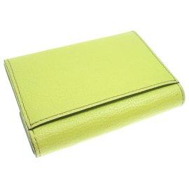 Cartier-Cartier Green Leather C de Cartier Wallet-Green,Light green