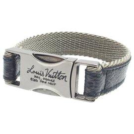 Louis Vuitton-Louis Vuitton - Bracelet à clip rapide Eclipse monogramme noir-Noir