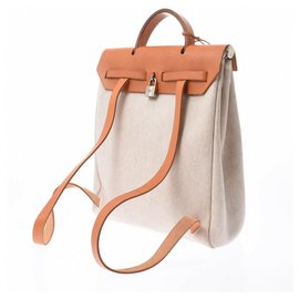 Hermès-Hermès Backpack-White