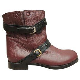 Chloé-Chloé p boots 40-Dark red
