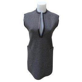 Céline-robe-Black,Grey