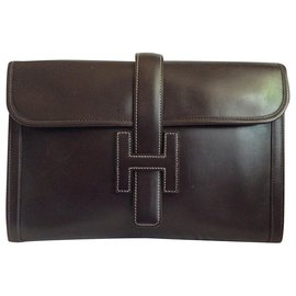 Hermès-Jige-Dark brown