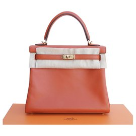 Hermès-Handbags-Orange