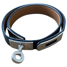 Hermès-Bracelet Kelly lined Tour-Black