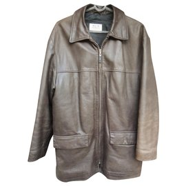 Givenchy-Givenchy Men leather jacket size M-Brown