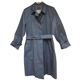 Burberry-Burberry woman raincoat vintage t 36 / 38-Navy blue