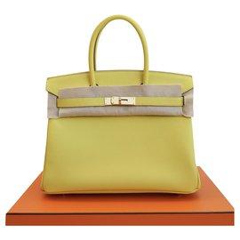 Hermès-Handbags-Yellow