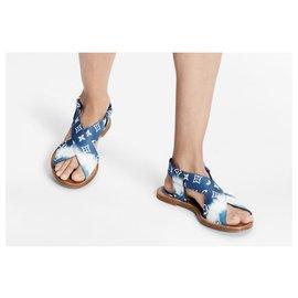 Louis Vuitton-LV sandales escale palma nouveau-Bleu
