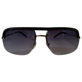 Yves Saint Laurent-Squared aviator blu sunglasses-Blue