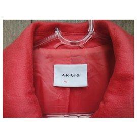 Akris-Akris cashmere and silk coat t 40-Coral