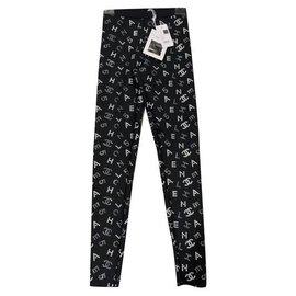 Chanel-Chanel neoprene leggings-Black