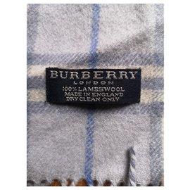 Burberry-Burberry mixed blue scarf-Light blue