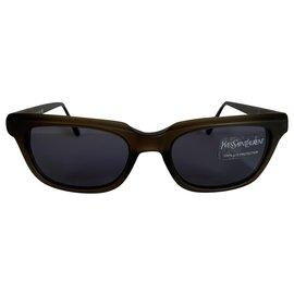Yves Saint Laurent-Rétro '80s Sunglasses-Khaki