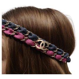 Chanel-Chanel cc headpiece-Pink,Blue