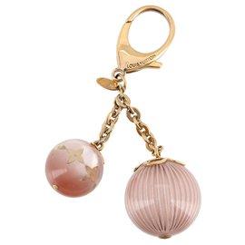 Louis Vuitton-Charm de sac en or Louis Vuitton-Rose,Doré