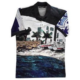 Dolce & Gabbana-Photo of the Sicilian coast on the front and ceramic on the back.-Dark grey