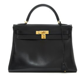 Hermès-kelly II BLACK 32-Black