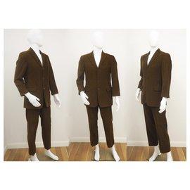 Hugo Boss-Hugo Boss Rossellini Movie Corduroy Suit-Brown