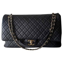 Chanel-Chanel XXL travel classic flap bag-Black