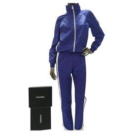 Chanel-Chanel Logo Sport Suit Sz.36-White,Blue