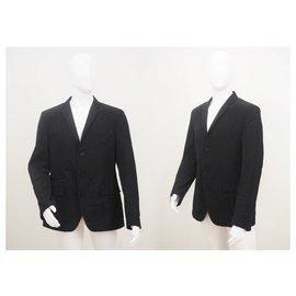 Dkny-Dkny Men Waterproof Tailored Blazer in Black Size L-Black