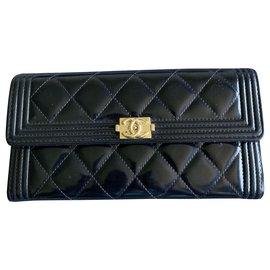 Chanel-Boy timeless wallet-Black