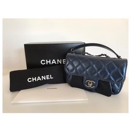 Chanel-Chanel small CC bag-Navy blue