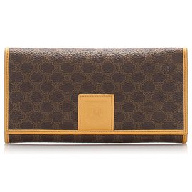 Céline-Celine Brown Macadam Long Wallet-Brown