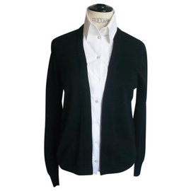 Chanel-CHANEL Wool cardigan and removable top with T buttons38-Multiple colors