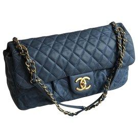 Chanel-Timeless Limited Flap Bag-Blue,Light blue,Dark blue