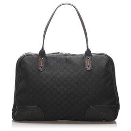 Gucci-Sac de voyage Princy en toile noire GG Gucci-Noir