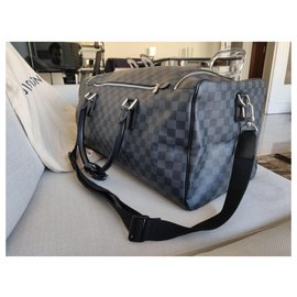 Louis Vuitton-Louis Vuitton Roadster Damier Graphite travel bag 50-Dark grey