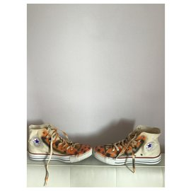 Converse-Fabulous pair of converse all star aggressive tiger-Eggshell
