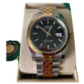 Rolex-Rolex Datejust 36 mm Jubilee bracelet-Silvery