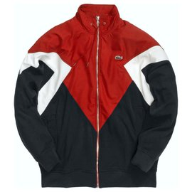 Lacoste-Men Coats Outerwear-Red,Navy blue