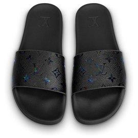 Louis Vuitton-Mules LV Waterfront Noir Neuf-Noir