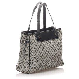 Céline-Celine Gray Macadam Canvas Tote Bag-Black,Grey