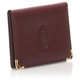 Cartier-Cartier Red Must De Cartier Leather Passport Cover-Red,Dark red