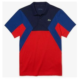 Lacoste-Polos-Red,Navy blue