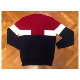 Lacoste-Sweaters-Red,Navy blue